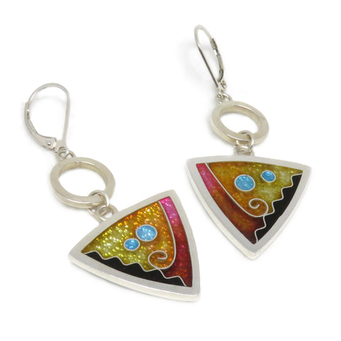 Triangle Drop Earrings Sun
