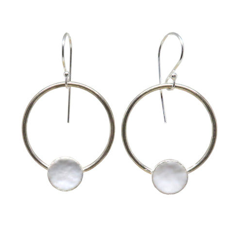 Small Dot Hoop Earrings