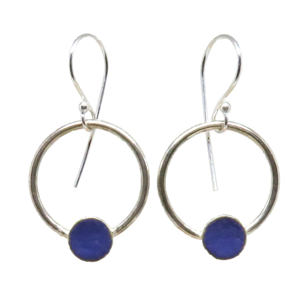 Large Dot Hoop Earrings