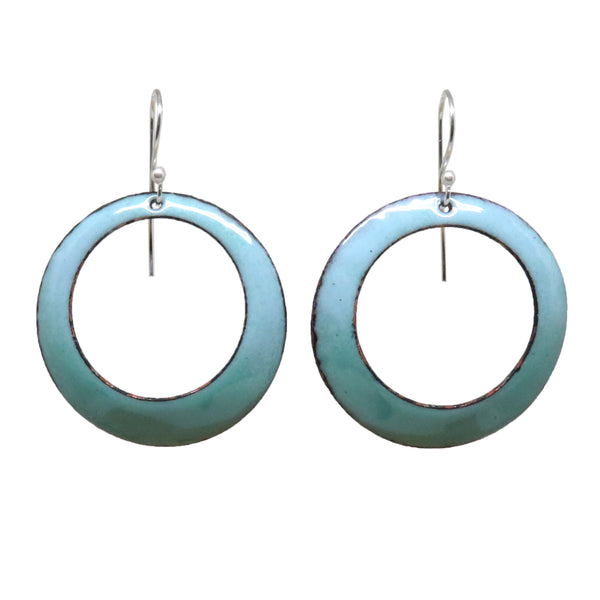 Large Enamel Hoop Earrings