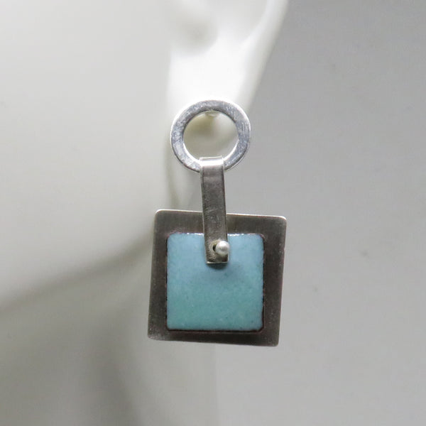 Square Enamel Earrings