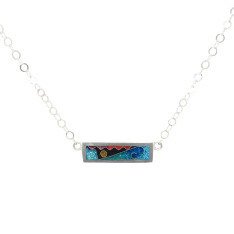 Cloisonne Rectangle Necklace