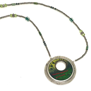 Circle in Circle with Beaded Chain
