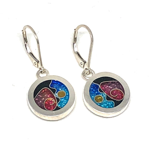 Circle Hanging Earrings Ocean