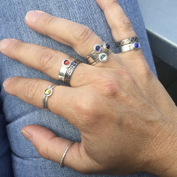 Handcrafted Sterling Silver and Stone Rings