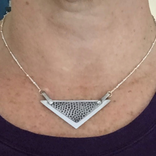 Sterling Silver Handmade Triangle Necklace