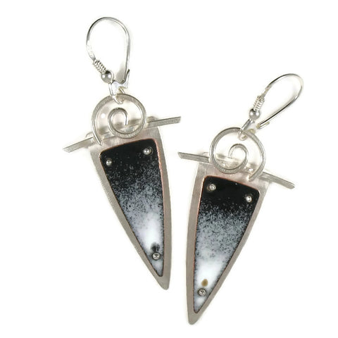 Black/White SVS Earrings
