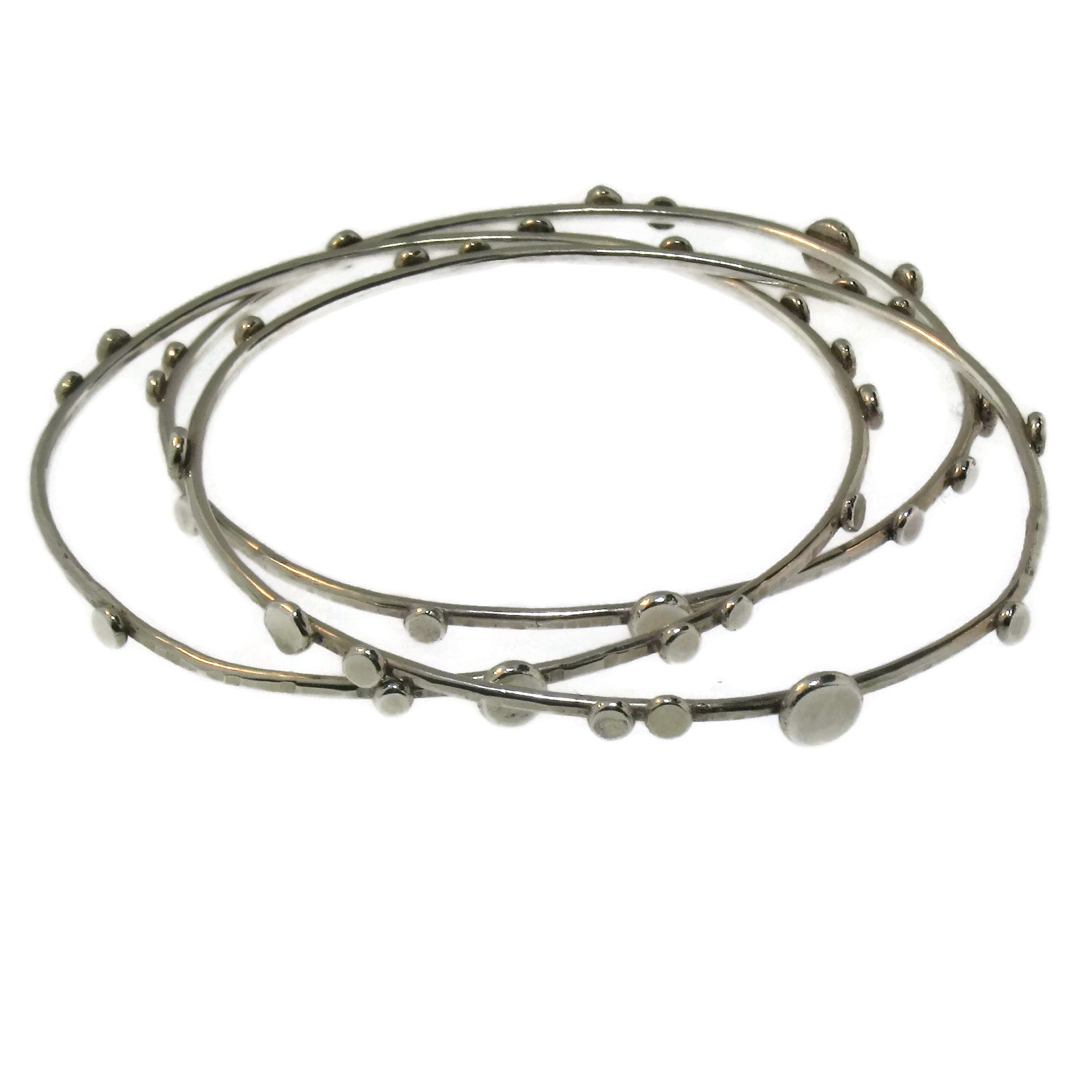 Dit/Dot Sterling Silver Bangle
