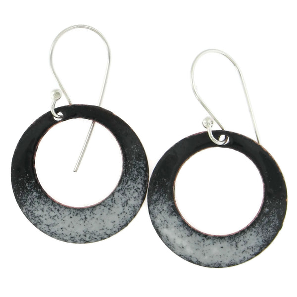 Small Enamel Hoop Earrings