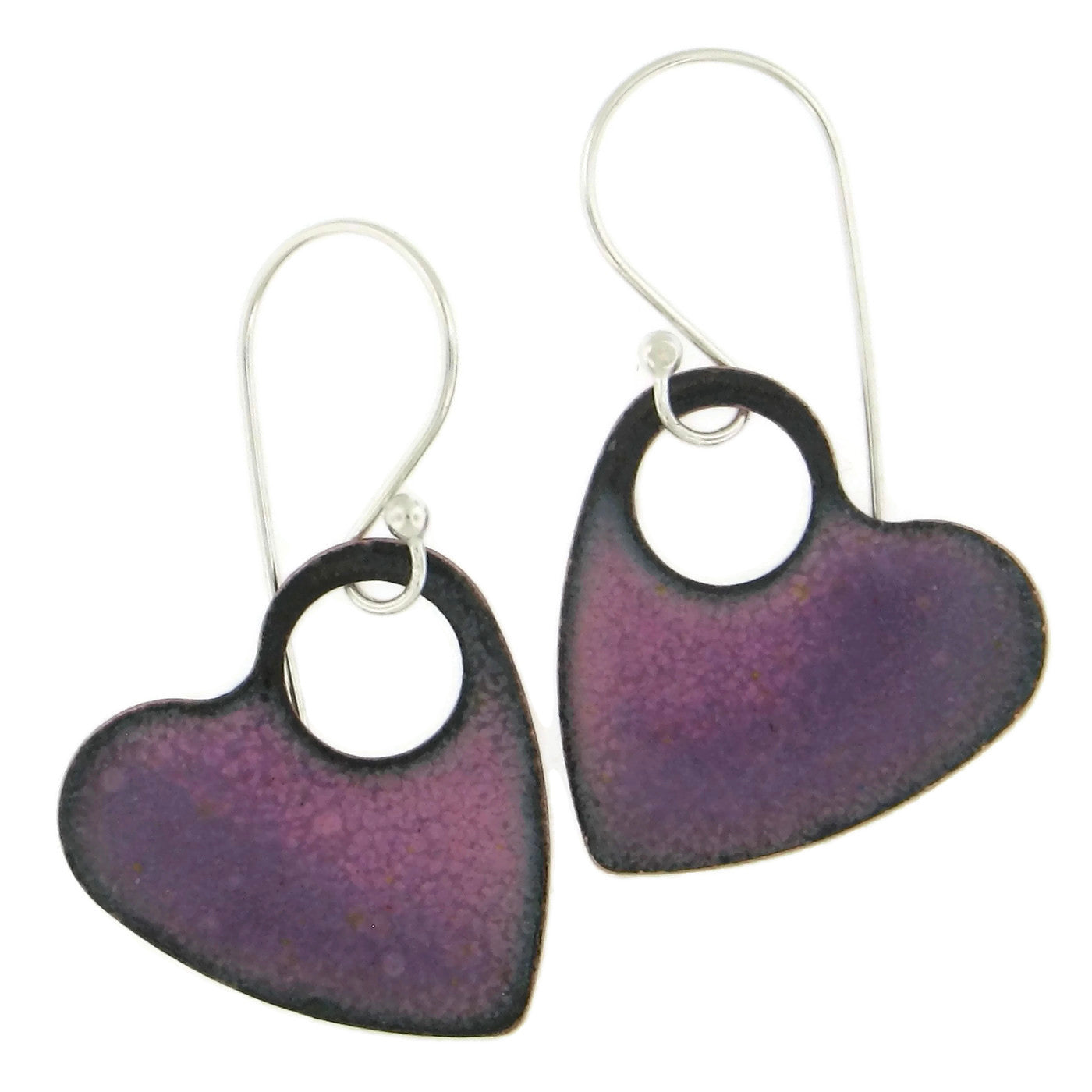 Heart Enamel Earrings