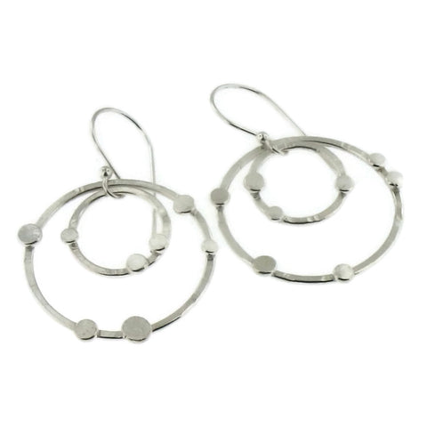 Dot-Dot Small Sterling Double Hoop Earrings