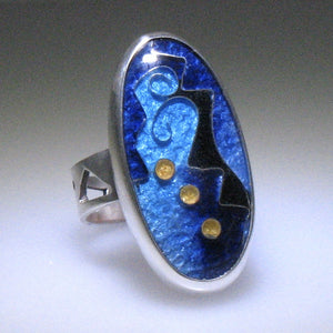 One of a Kind Cloisonne Ring