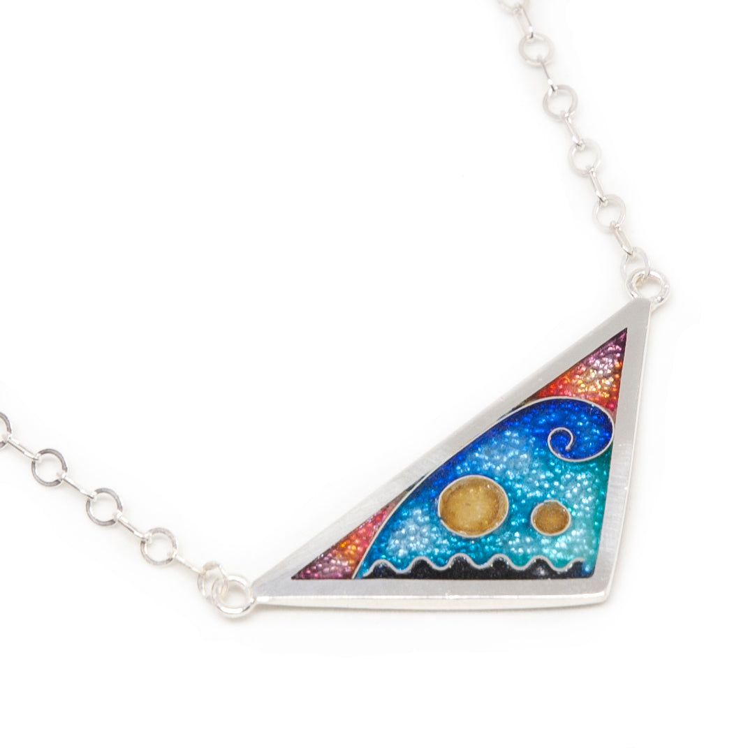 Cloisonné Triangle Necklace