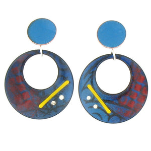 Circle Enamel Earrings