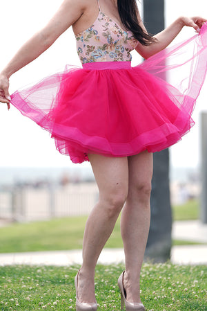Mini PINK! Tulle Skirt