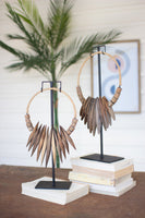 Wood Necklace on Stand