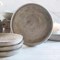Gray Wood Bowl