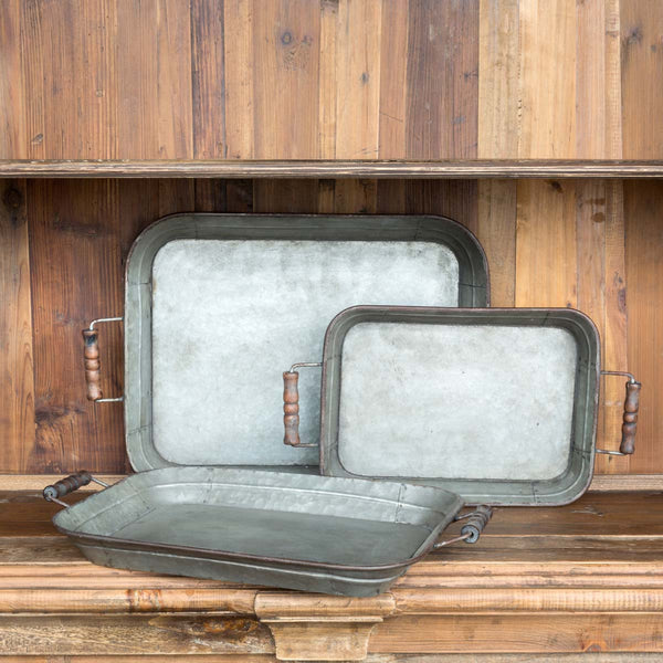 Farmhouse Metal Tray: Large