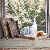 Wood Square Tray: Large