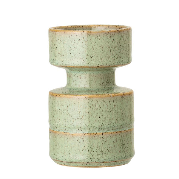 Small Green Stoneware Candle Holder
