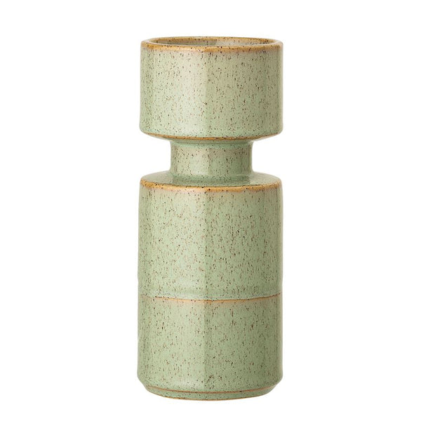 Large Green Stoneware Candle Holder