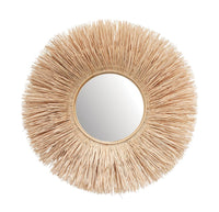 Wicker Sunburst Wall Mirror