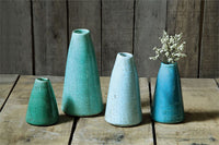 Turquoise/Green Vase: Medium