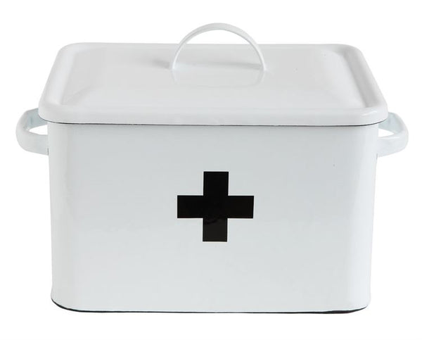 Enamel First Aid Box with Lid
