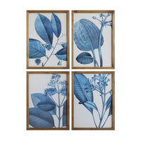 Framed Blue Botanical