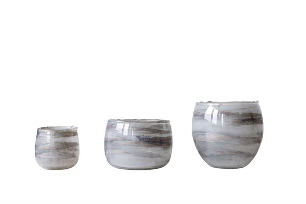 Marbled Glass Votive