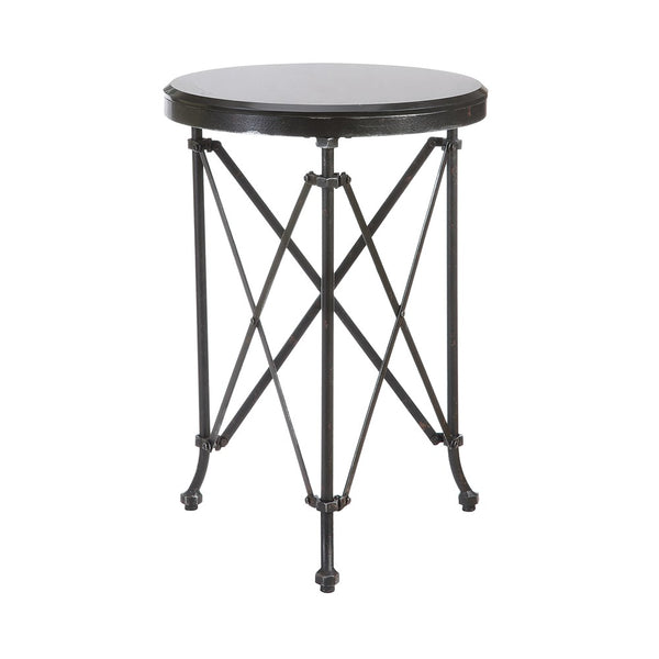 Metal and Marble Side Table