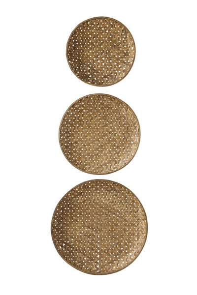 Set of 3 Woven Bamboo Baskets