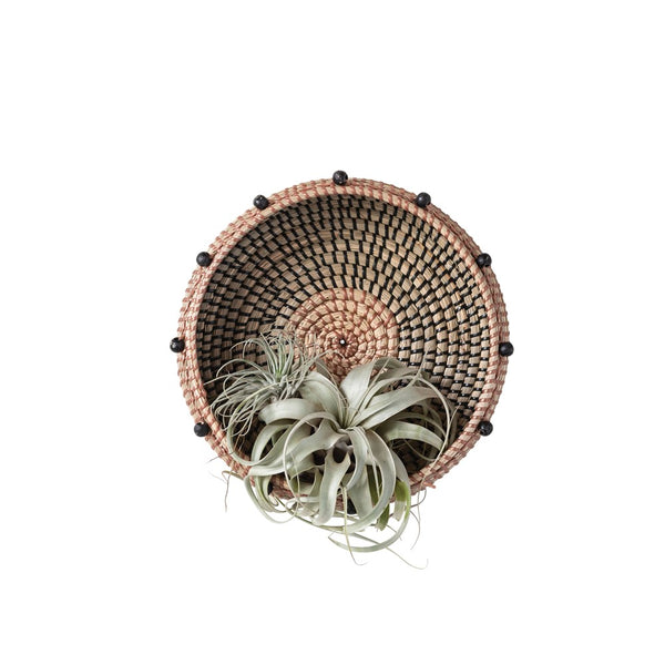 Seagrass Basket with Beads