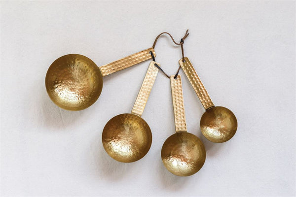 Hammered Brass Scoops