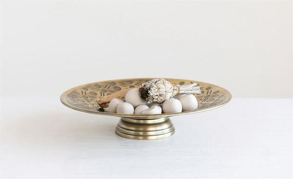 Footed Brass Bowl