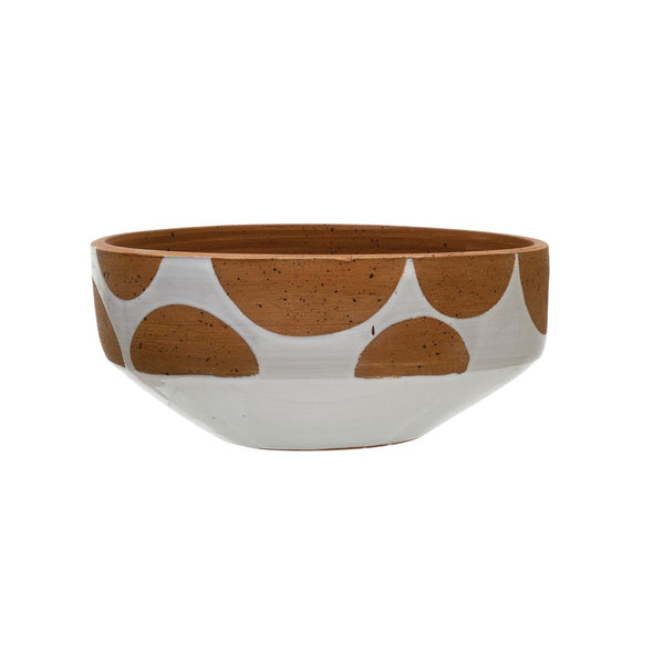 Terracotta Dot Bowl