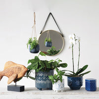 Blue Stoneware Pot