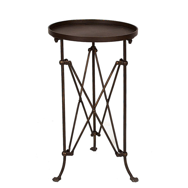 Bronze Side Table: round