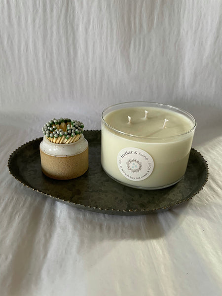 Feather & Twine: 3 Wick Candle