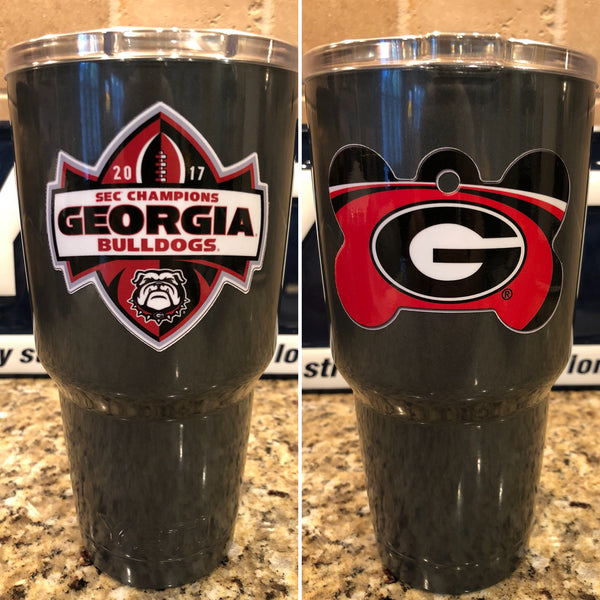 Georgia YETI Ramblers-ALL SIZES-Powder Coated-UGA Bulldogs SEC CHAMPS