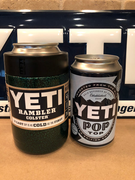 Hard Candy Green Custom YETI Rambler Colster-Powder Coated-Hammered Steel Texture