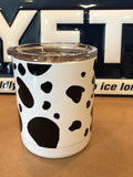 Cow YETI Rambler ALL SIZES-Powder Coated White with Custom Cow Prints
