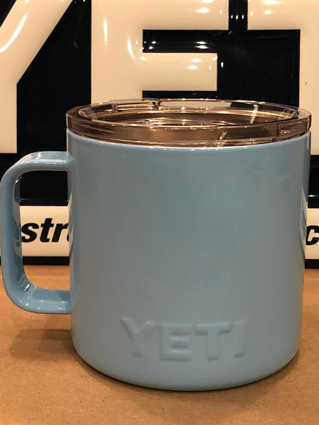 Powder Blue YETI Camp Mug 14oz w/Lid-Powder Coated-ALL SIZES Available