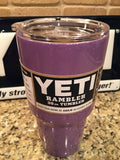 Purple Yeti Rambler 20oz or 30oz- Lavender Purple Sparkle Glitter-Powder Coated