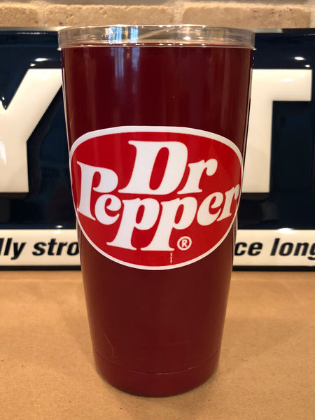 Dr. Pepper YETI Rambler Colster-Powder Coated Gloss Maroon-ALL SIZES