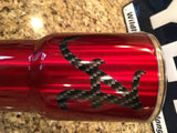 Alabama YETI Rambler Tumbler 20oz  or 30oz Crimson Tide-Powder Coated-Carbon Fiber logo