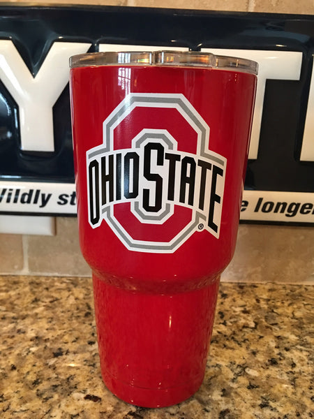 Buckeyes Yeti Rambler Tumblers/Bottles/Colsters-Powder Coated with Ohio State University
