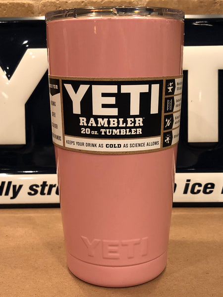 Pretty Pink YETI Rambler 20oz w/Lid-Powder Coated-ALL SIZES Available