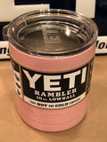 Pretty Pink YETI Rambler Low Ball 10oz w/Lid-Powder Coated-ALL SIZES Available