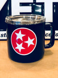 Tennessee YETI Rambler ALL SIZES-Powder Coated w/custom Tri Star logo